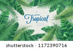 vector tropical botanical... | Shutterstock .eps vector #1172390716