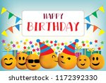 happy birthday vector design... | Shutterstock .eps vector #1172392330