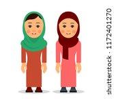 arab woman or muslim woman.... | Shutterstock . vector #1172401270