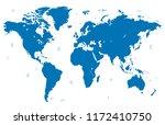 color world map vector | Shutterstock .eps vector #1172410750