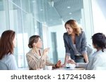 image of four businesswomen... | Shutterstock . vector #117241084