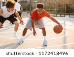 portrait of athletic american... | Shutterstock . vector #1172418496
