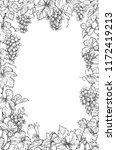 monochrome rectangle vertical... | Shutterstock .eps vector #1172419213