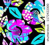 seamless summer tropical... | Shutterstock .eps vector #1172422300