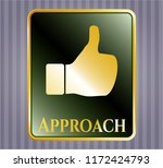 gold shiny emblem with like... | Shutterstock .eps vector #1172424793