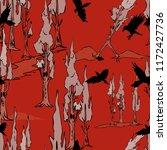 creepy forest halloween... | Shutterstock .eps vector #1172427736