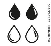 drop water icon vector | Shutterstock .eps vector #1172427970