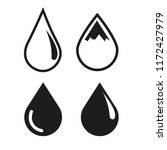 drop water icon vector | Shutterstock .eps vector #1172427979