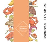 menu design restaurant brochure.... | Shutterstock .eps vector #1172435323