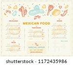 mexican food restaurant menu ...   Shutterstock .eps vector #1172435986