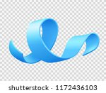 realistic blue ribbon  world... | Shutterstock .eps vector #1172436103