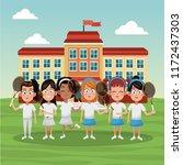 tennis school team | Shutterstock .eps vector #1172437303