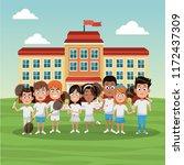 tennis school team | Shutterstock .eps vector #1172437309