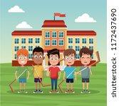 hockey school team | Shutterstock .eps vector #1172437690