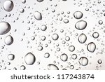 Water Droplets On The Glass Fo...