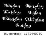 big calligraphic set days of... | Shutterstock .eps vector #1172440780