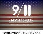 9 11 patriot day vector... | Shutterstock .eps vector #1172447770