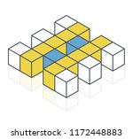 abstract cube vector shape... | Shutterstock .eps vector #1172448883