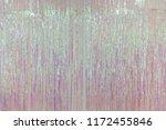 pink foil fringe curtain or... | Shutterstock . vector #1172455846