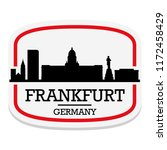 frankfurt germany label stamp... | Shutterstock .eps vector #1172458429