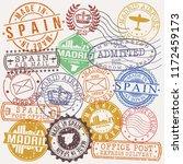 madrid spain stamp vector art... | Shutterstock .eps vector #1172459173