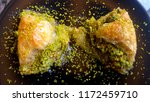 traditional turkish dessert... | Shutterstock . vector #1172459710