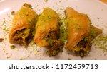 traditional turkish dessert... | Shutterstock . vector #1172459713
