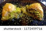 traditional turkish dessert... | Shutterstock . vector #1172459716