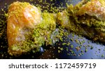 traditional turkish dessert... | Shutterstock . vector #1172459719