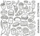 fast food restaurant... | Shutterstock .eps vector #1172461246