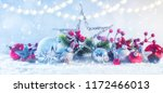 winter background with snow.... | Shutterstock . vector #1172466013