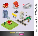 3d object in the city | Shutterstock .eps vector #117246694