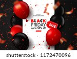 black friday sale background... | Shutterstock .eps vector #1172470096