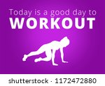 fitness motivation quote... | Shutterstock . vector #1172472880