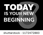 fitness motivation quote...   Shutterstock . vector #1172472883