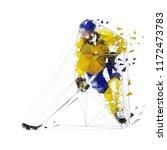 hockey player  polygonal vector ... | Shutterstock .eps vector #1172473783