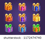 gift boxes icon for a game... | Shutterstock .eps vector #1172474740
