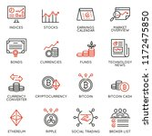 vector set of linear icons... | Shutterstock .eps vector #1172475850