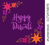 diwali greeting card with... | Shutterstock .eps vector #1172476870