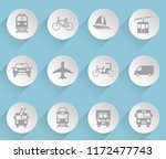 vehicle web icons on light... | Shutterstock .eps vector #1172477743