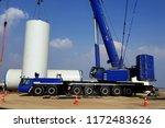 wind turbine towers installation | Shutterstock . vector #1172483626