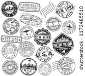 new york usa stamp vector art...   Shutterstock .eps vector #1172485510