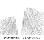 abstract architectural... | Shutterstock .eps vector #1172489713