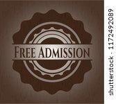 free admission wood emblem.... | Shutterstock .eps vector #1172492089