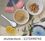 herbal tea with mint and lemon...   Shutterstock . vector #1172498743