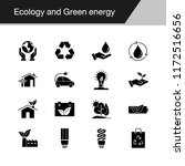 ecology and green energy icons. ... | Shutterstock .eps vector #1172516656