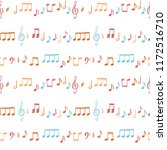 music notes seamless vector... | Shutterstock .eps vector #1172516710
