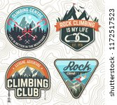 set of rock climbing club... | Shutterstock .eps vector #1172517523