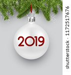 white 2019 new year background... | Shutterstock .eps vector #1172517676