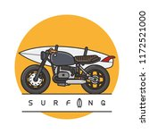 Motorbike With Surfboard On...